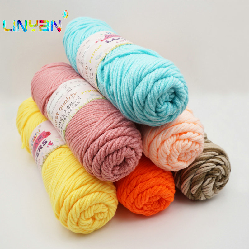 New 6 Pieces Lover Thick Yarn For Knitting Threads Hand Knit Lanas Para Tejer Cotton Crocheting Wool Needles Hand Hand-woven T50