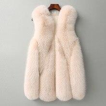 ZADORIN, Новое поступление, Длинный жилет из искусственного меха, пушистая куртка размера плюс, женское тонкое пальто из искусственного меха, высококачественный жилет из искусственного меха