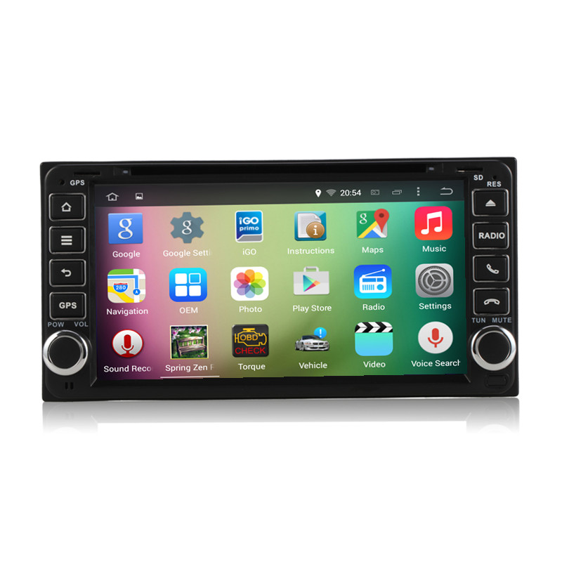 6.95″ Android 5.1 Quad Core Car Radio DVD GPS Head Unit for Toyota Hilux RAV4 Camry Corolla EX Vitz Land FJ Cruiser 100 Prado