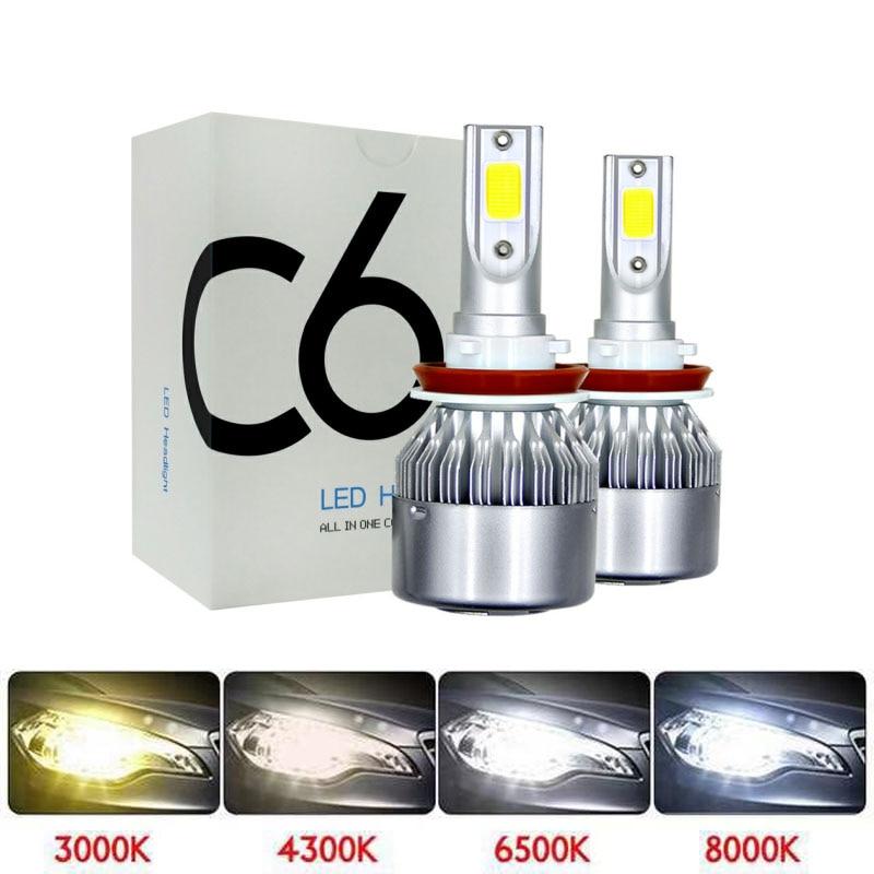 LED 4300K 6500K Motorcycle Headlight Lights LED H4 HS1 LED H7 H11 H1 LED 3000K 8000K LED Moto Motorbike Scooter Headlamp Bulbs