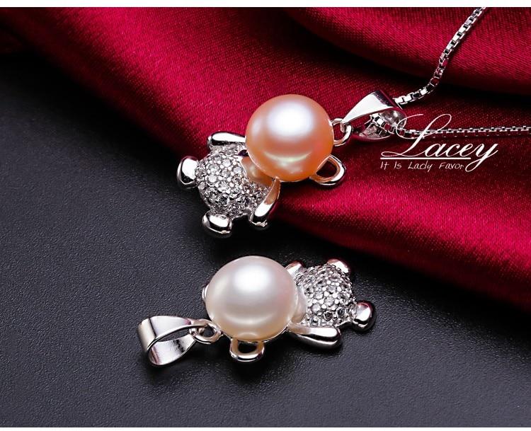 741a890fab43 ⑦Hermosa perla colgantes collar 925 joyería de plata