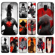 Japan The samurai Ninja soft phone cover case for Samsung Galaxy S6 S7 S8 S9 S10e Plus Note 8 9 CASES(China)
