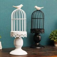 Железный подсвечник в скандинавском стиле для птичьей клетки, подсвечник, Свадебный Романтический обеденный стол при свечах, украшение для дома