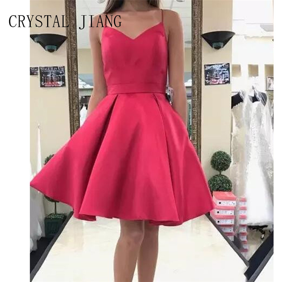 5068948569b Buy red satin short dress and get free shipping on AliExpress.com