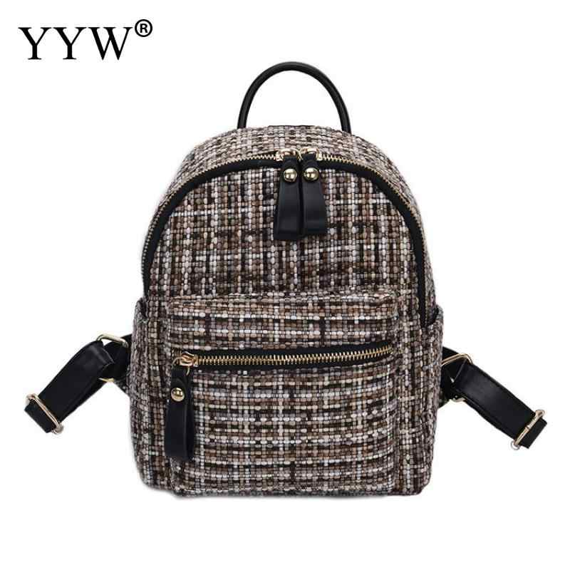 Шерстяная ткань легко застёгивающийся рюкзак модный Противоугонный маленький рюкзак женский модный мини сумки на плечо женский Mochila