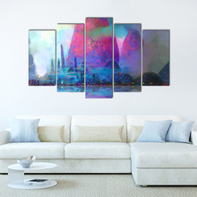 5 Pieces Modern Wall Art Canvas Modular Panel Print Canvas Painting Decoration Picture Home Decor