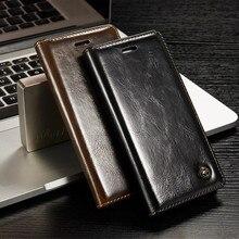 Antecase для iPhone 6 6 S 7 Plus 5 5S чехол Роскошный кожаный чехол-книжка чехол для Samsung S8 Plus S4 S5 S6 S7 край чехлы с отделениями для карт