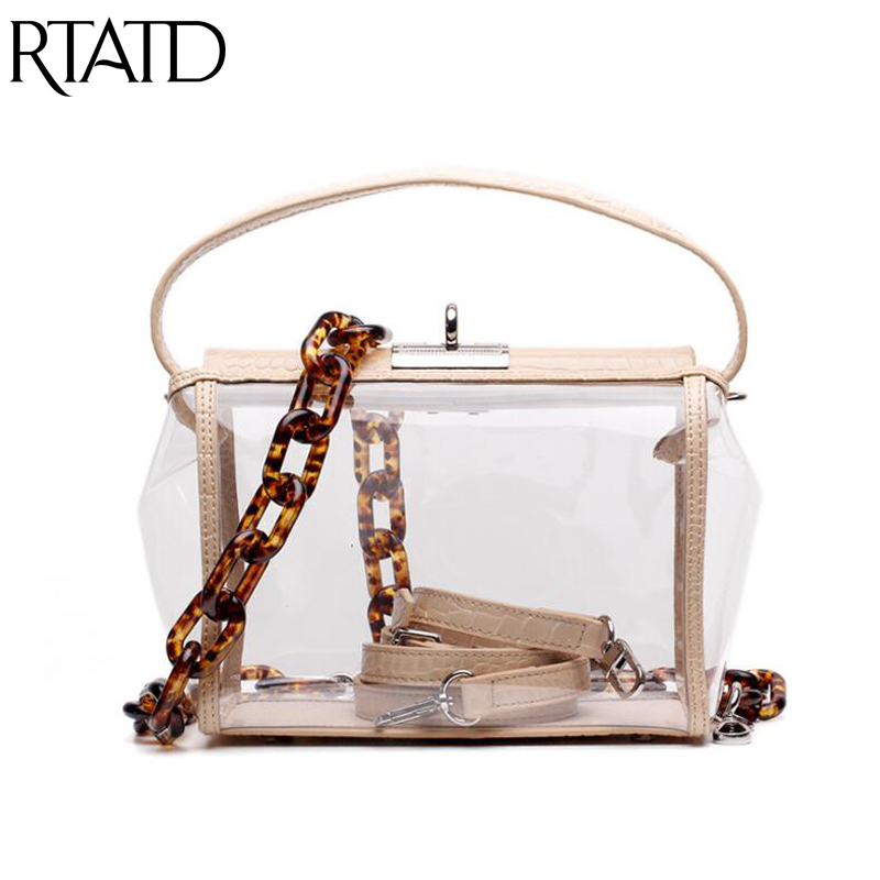 2019 New Hasp Transparent Chain Crossbody Bag For Women Shoulder Bag Genuine Leather Ladies Beach Jelly Bag With Acrylic Strap 2019 New Hasp Transparent Chain Crossbody Bag For Women Shoulder Bag Genuine Leather Ladies Beach Jelly Bag With Acrylic Strap