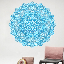 High Quality Round Vinyl Wall Stickers with Mandala