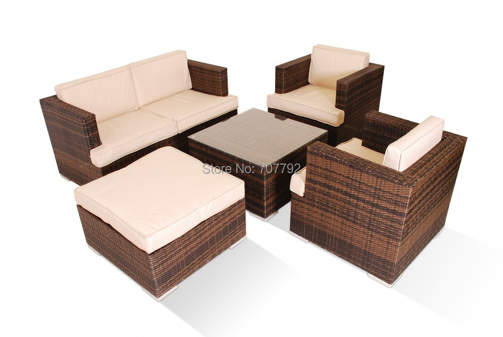 Mazenetti 5 Pc 2 Seater Rattan Sofa Set-in Garden Sofas from ...