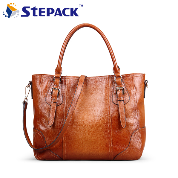 2017 Women's Shoulder Bag Large Capacity Genuine Leather Soft Leather Fashion Hadbag WMB0207