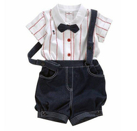 Tops shorts Bow tie Wedding suits Gentleman baby boy kids clothes sets bib shortall for kids toddler boys dungarees Salopette