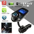 Universal Car Bluetooth Car Kit MP3 FM Transmitter Handsfree FM Modulator Music Player LCD Display USB Fm Transmitter Speaker