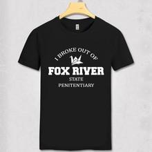 Prison Break Miller Mahone 100% cotton homme T-shirt I broke out of fox river Geek T shirt