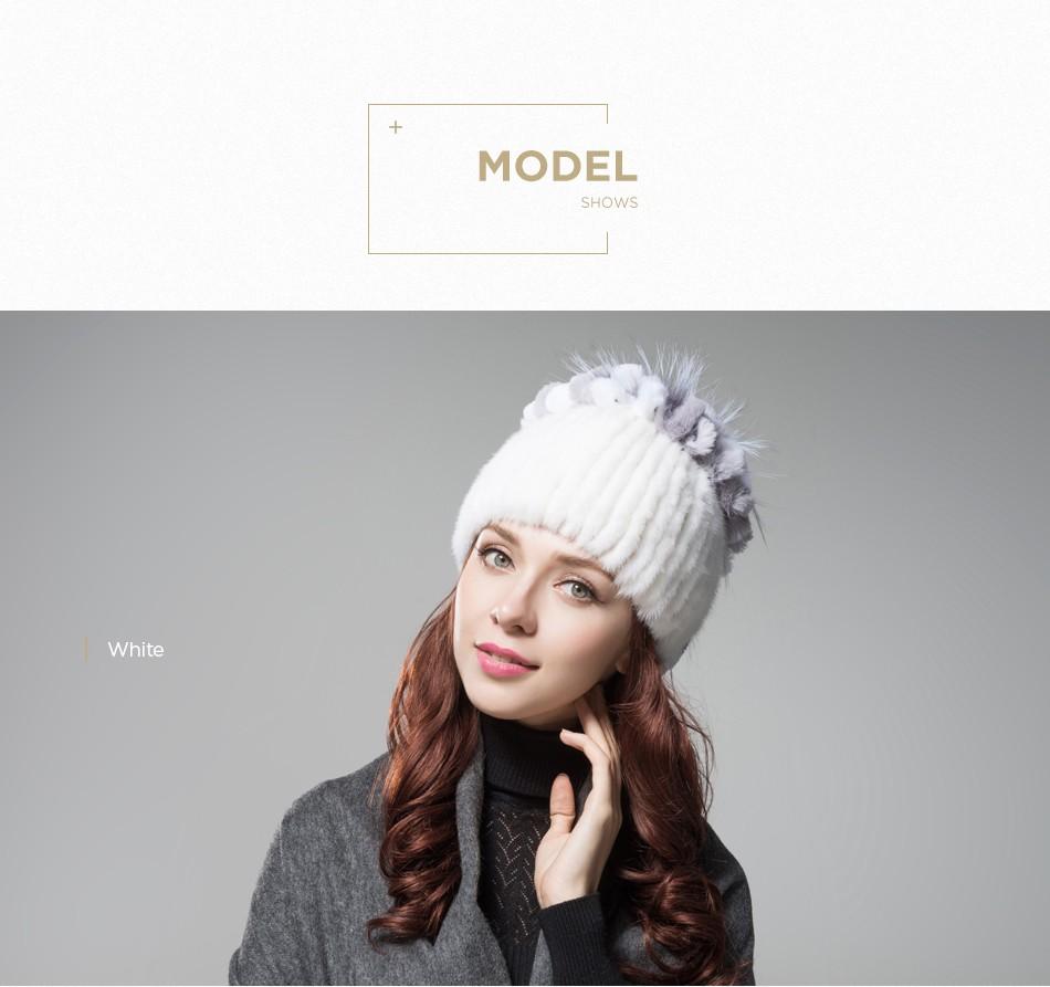 mink fur hats female winter PCM016 (9)