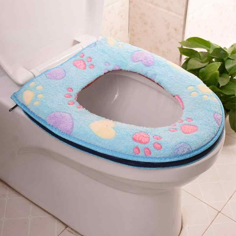 Strange Winter Toilet Seat Warmer Flower Pattern Zipper Carpet Toilet Seat Cover Soft Comfortable Baby Potty Seat Overcoat Toilet Squirreltailoven Fun Painted Chair Ideas Images Squirreltailovenorg