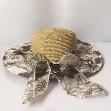 цена на 2018  Summer Hats for Women Fashion Design Women Beach Sun Hat Foldable Brimmed Straw Hat  YBS002