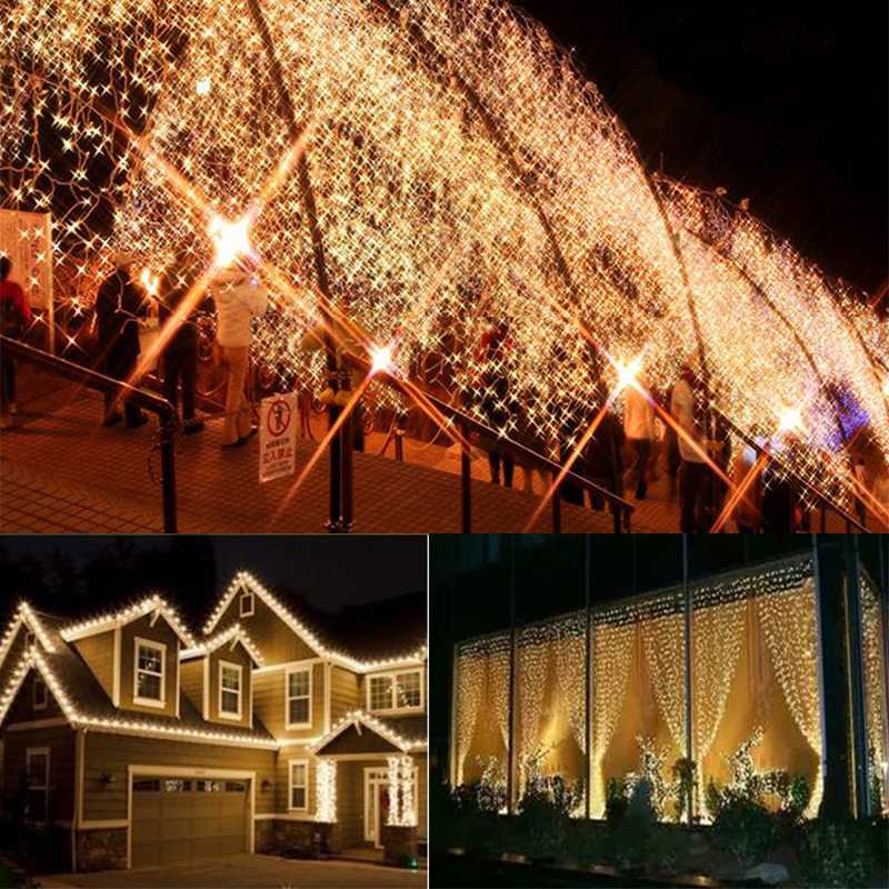 Waterproof Fairy Light Christmas Lights Outdoor Led Decoracion Wire String Light For Wedding Xmas Garland Party Eu Plug