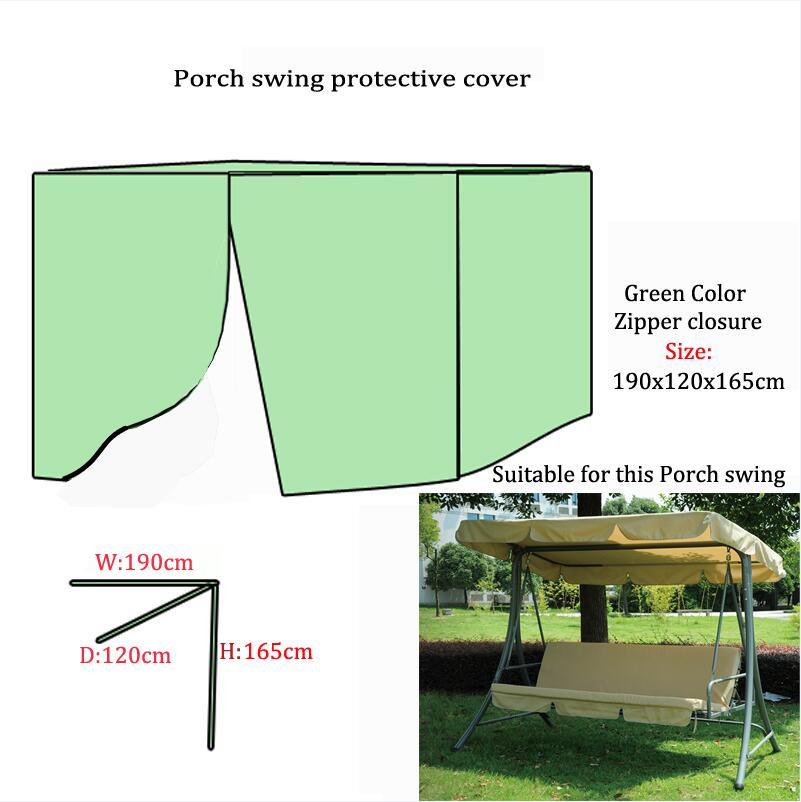 Качели, 190x120x165 см водонепроницаемым Защитная крышка для 3-местный-качалками и кровать, Бесплатная доставка