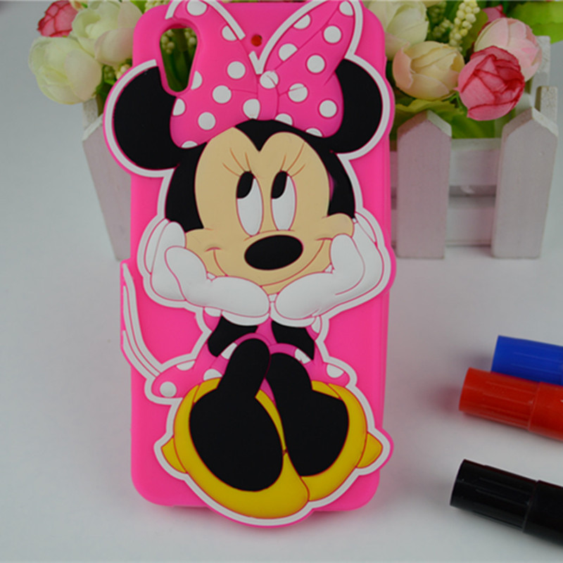 3D Cute Cartoon Mickey Mouse And Minnie Soft Silicon Case For HTC Desire 626 628 650 626S 626G+ Phone Back Housing Cover Capa