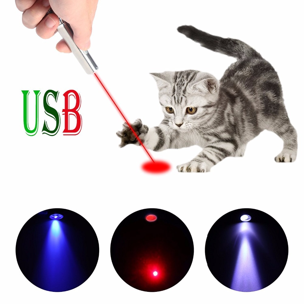 New 3 in1 Mini USB Rechargeable LED Laser UV Torch Pen Flashlight Multifunction