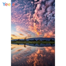 Yeele Landscape Natural Photocall Lake Sunset Glow Photography Backdrops Personalized Photographic Backgrounds For Photo Studio