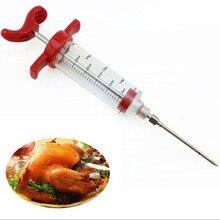 Барбекю мясо шприц маринад инжектор птицы Турция со вкусом курицы шприц кулинарный соус инъекции кухонная утварь 8