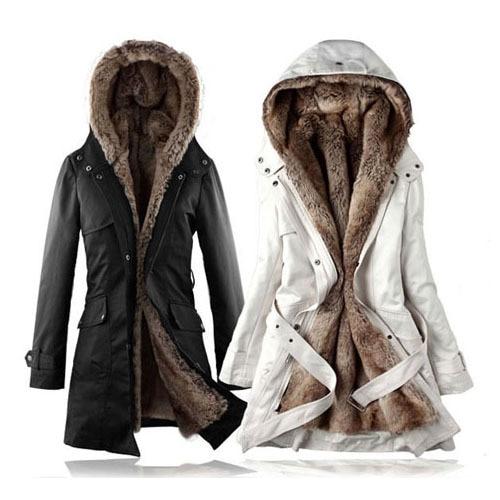 Hot Faux fur lining womens fur Hoodies Ladies coats