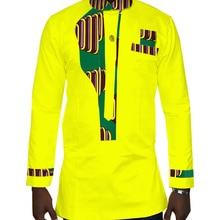 Mens Shirt 2017 New African Clothing Long Sleeve Dashiki for Men Slim Fit Brand 6XL Print Shirts WYN232