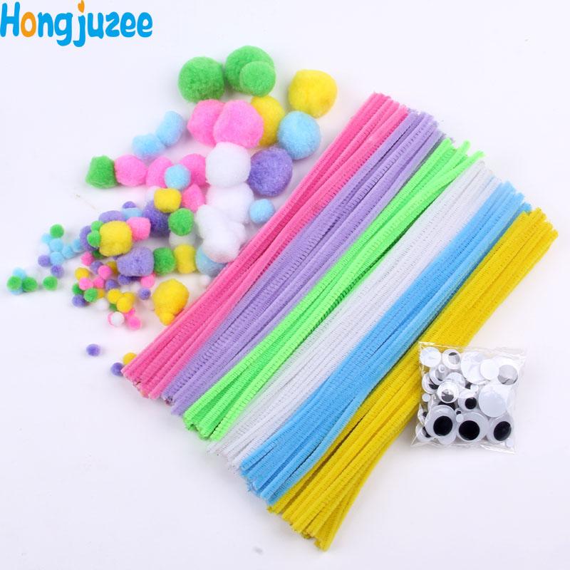 materiales chenilla palos ojos de peluche bola de pelo set nios nios juguetes montessori juguete educativo