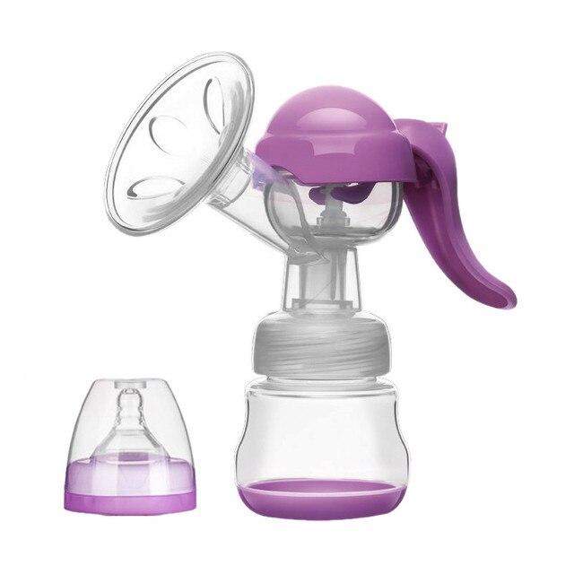 Новорожденный Кормление 150 мл Бутылка Удобнее BPA БЕСПЛАТНО Ручной Молокоотсос Мощный Соска Всасывания Груди Насосы-MKA107 PT49
