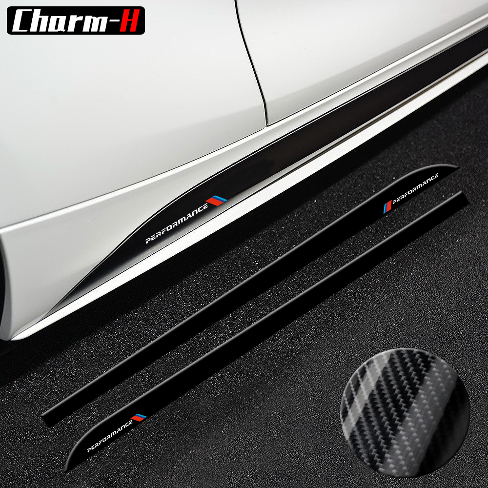 Для BMW E90 E92 F20 F21 F30 F31 F32 F33 F34 F15 F16 F10 F01 F11 F02 G30 M производительность боковая юбка подоконник полоса наклейки тела стикер
