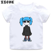 Boys/Girls Sally Face Cartoon Print T shirt Kids Harajuku Funny Casual Clothes Children Summer Short Sleeve Baby T-shirt,HKP5275 цена