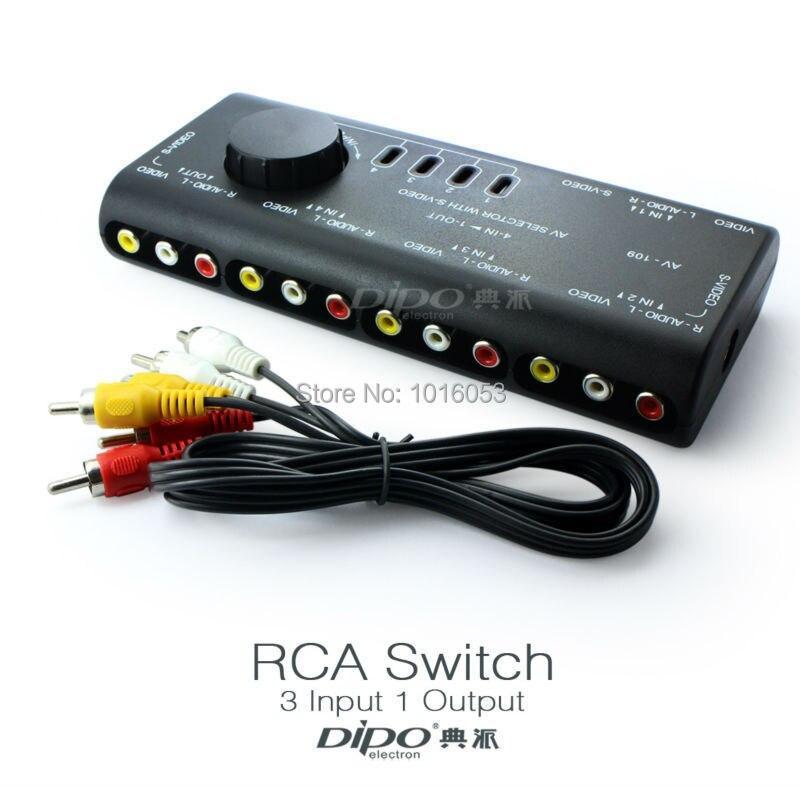 Aliexpress Com Buy 4 Input 1 Output Rca Av Switch With 2