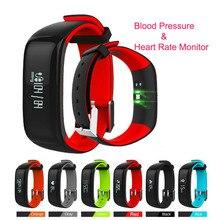P1 Smartband Монитор Сердечного ритма Артериального Давления Умный Браслет Водонепроницаемый IP67 Bluetooth Браслет Фитнес для Android IOS Телефон