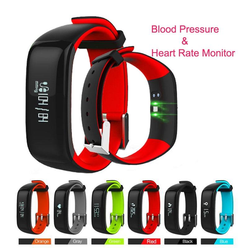 imágenes para P1 Smartband Heart Rate Monitor de Presión Arterial Inteligente Pulsera Bluetooth Pulsera de Fitness para Android IOS Teléfono IP67 A Prueba de agua