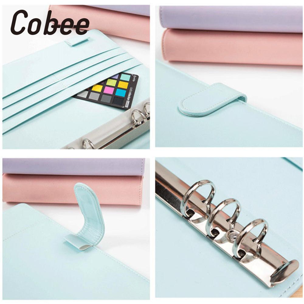 Notepad Cover Leather Ring Binder Cover Stationery Loose Leaf Cover A5 цены