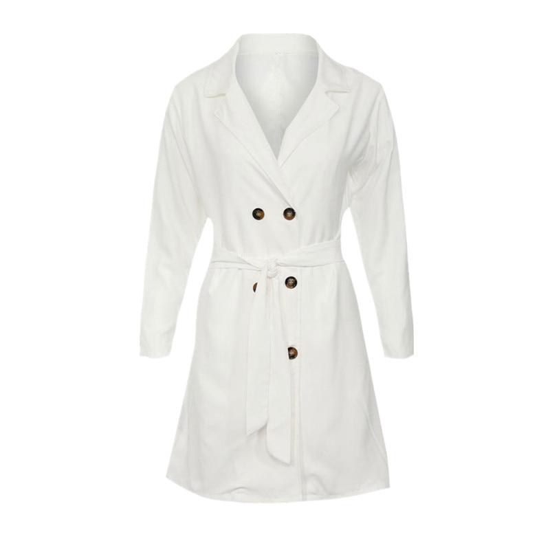 autumn fashion   trench   coat for women white long coat plus size clothing fall 2018 long sleeve windbreaker manteau femme ZC2790