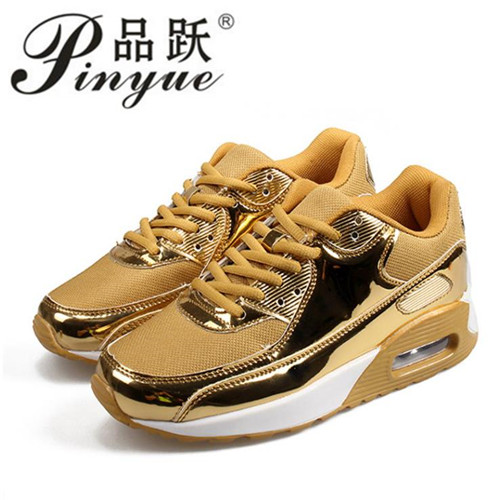women sneakers with bling Breathable Mesh Newly Tenis Feminino Casual Shoes women 2017 Gold Silver Walking Shoes Women Shoes 2016 gold led shoes women