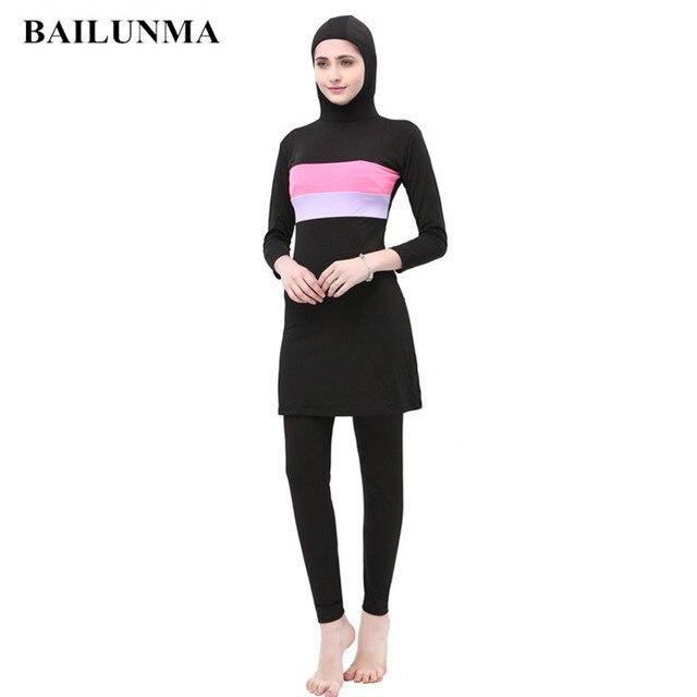 f4d5666125 Muslim swimwear with chest pad musulman swim wear women Hijab Islamic  Swimsuit Sport modest swimwear kostium kapielowy