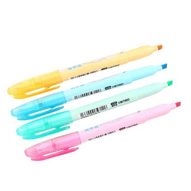 1 Pcs Korean Cute Kawaii Deli Watercolor Highlighter Stationery Sets ...