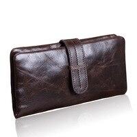 Luxury Cowhide Men Wallets Clutch Bag Genuine Leather Men Bag Business Clutches Zipper Male Function Wallets