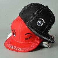 Wholesale 2016 New Children Lovely Eye Cotton Baseball Cap Flat Hat For Girls Casual Fashion Kids