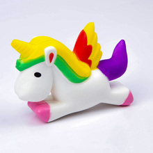 Фотография PU Soft Pegasus Slow Rising Phone Strap Kids Vent Toy Relieve Stress Squishy Squeeze Unicorn