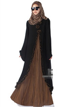 New Arrival Islamic Muslim long dress for Women Malaysia abayas in Dubai Turkish ladies clothing high