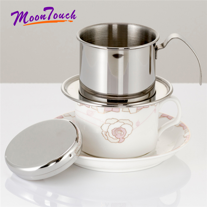 Stainless Steel <font><b>Vietnam</b></font> <font><b>Coffee</b></font> Dripper Filter <font><b>Coffee</b></font> <font><b>Maker</b></font> High Quality Drip Filter Pot Filters Tool Accessories For 1 People image