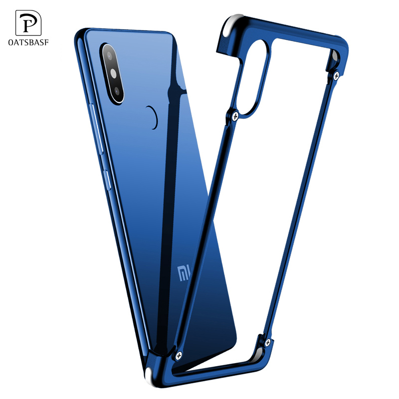 OATSBASF Luxury Case For Xiaomi MI 8 Case Airbag Metal Protection Personality Shell for Xiaomi MI 8 SE Case Slim Metal Bumpe