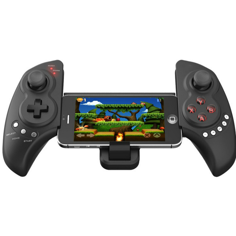 Wireless Bluetooth Gamepad with Telescopic Stand Gaming Controller Game pad Joystick for Android IOS Phone Pad PC Gamepads