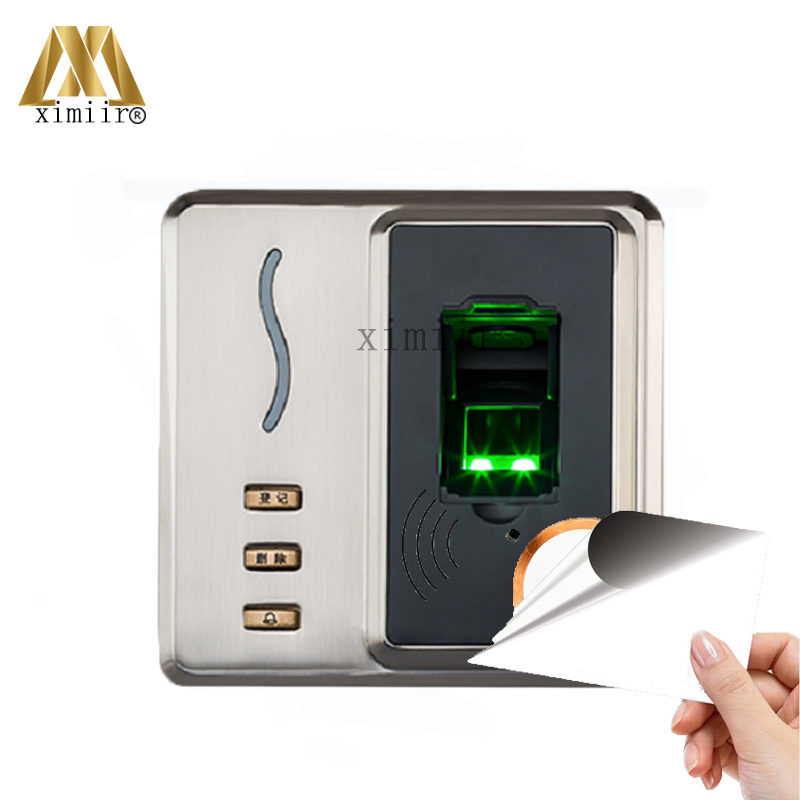 Metal Case Fingerprint Access Control with 13.56MHZ MF IC Card Reader ZK Standalone Access Control Time Attendance System SF101 zk biometric face recognition time attendance and access control with back up battery standalone face access controller reader