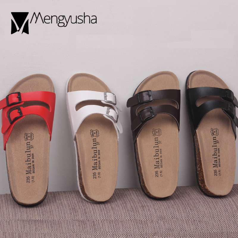 f7ca7875d874 Detail Feedback Questions about double buckle belt cork sandals women solid  color beach slippers narrow band platform sandalias lovers flip flops  slids42 ...